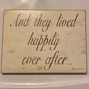 And They Lived Happily Ever After Sign Wedding